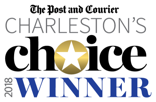 Winner of 2018-2020 The Post and Courier Charleston's Choice Award